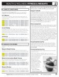 HEALTH & wELLNESS: FITNESS & wEIGHTS - Welcome - Page 4
