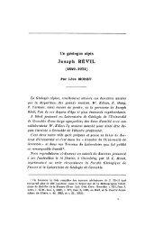 Joseph RÉVIL - Revue de géologie alpine