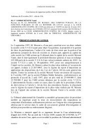 Les conclusions de Mr Pierre MONNIER Rapporteur public