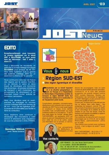 telecharger la newsletter n°3 - JOST-France