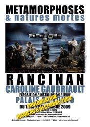 CAROLINE GAUDRIAULT & natures mortes - Agence révélateur