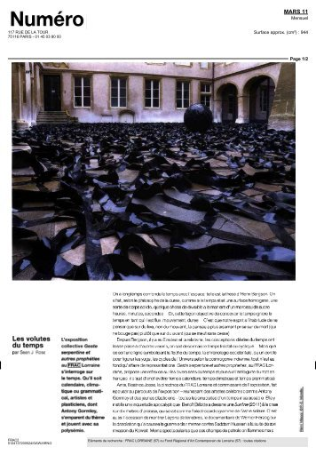 Numéro, issue March 2011, by Sean Rose (pdf in french) - PIERRE ...