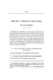 NOTES SUR LA GÉOLOGIE DU SAHARA CENTRAL - Revue de ...