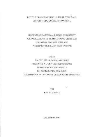thèse - Archipel - UQAM
