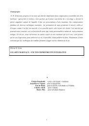 Les arts martiaux : une psychomotricité intégrative - Faculté de ...