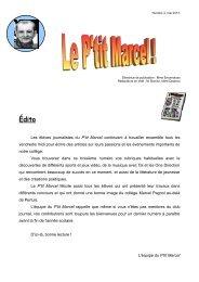 Édito - Collège Marcel Pagnol