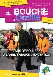 10 ans de foulées : un anniversaire d'exception - Ville de Saint-Marcel