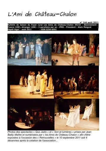 """Bulletin n°144 de septembre 2011 - """"l'école d'autrefois"""" de Château ..."""