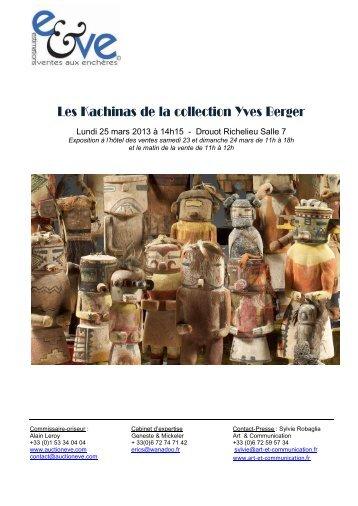 Les Kachinas de la collection Yves Berger - Eve