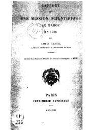 GENTIL, Louis, Rapport sur une mission scientifique au ... - Berbère