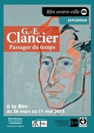 Georges-Emmanuel Clancier, passager du temps - bibliothèque ...