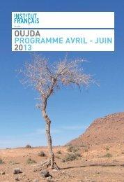 PROGRAMME AVRIL - JUIN 2013 - Institut français d'Oujda