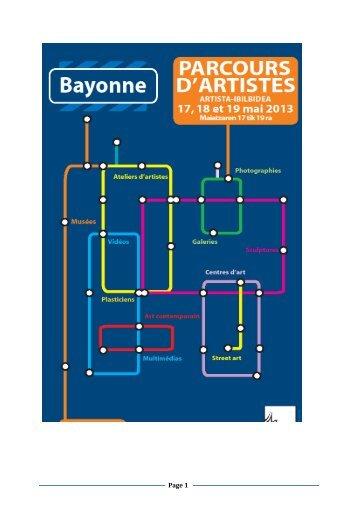 Parcours d'artistes - 13 mai 2013 (pdf, Ko) - Ville de Bayonne