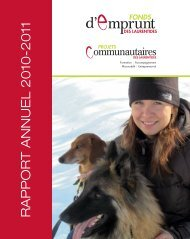 RAPPORT ANNUEL 2010-2011 - Fonds d'emprunt des Laurentides