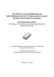 Der Einsatz von Lego-Mindstorms im Informatikunterricht der 11 ...