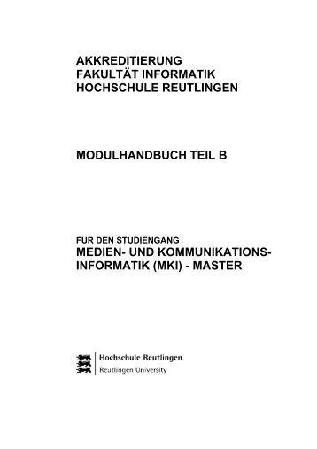 akkreditierung fakultät informatik hochschule reutlingen ...