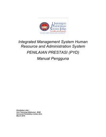a) Manual Pengguna Penilaian Prestasi (PYD)