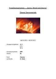 """Projektpräsentation – """"Sonne, Mond und Sterne"""" Thema ..."""