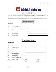 Borang Permohonan Penunjukajar Sambilan