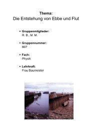 Die Entstehung von Ebbe und Flut