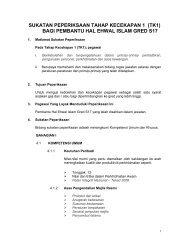 Pembantu Hal Ehwal Islam S17 TK1 - Portal Rasmi Bahagian ...