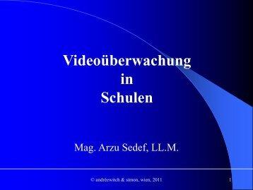 Videoüberwachung in Schulen