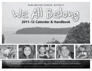 2011–12 Calendar & Handbook - Burlington School District