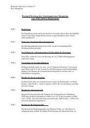 Protokoll Kreistag des Schwimmkreises Mannheim