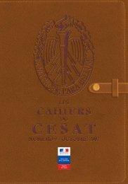 Cahier n°9 - cesat - Ministère de la Défense