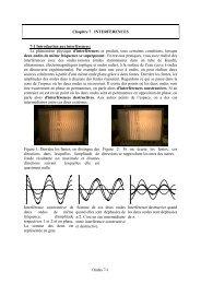 Chapitre 7 INTERFERENCES 7-1 Introduction aux interférences: Le ...