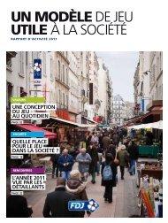 Rapport annuel 2011 - Française des Jeux