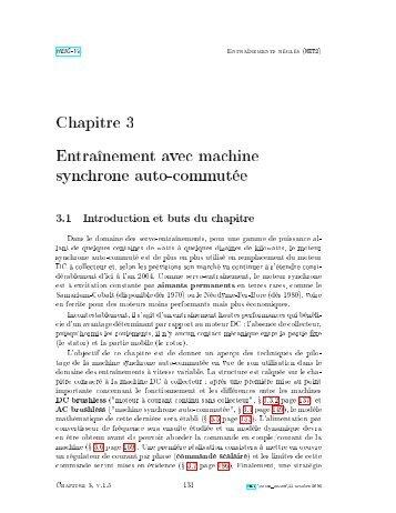 Chapitre 3 Entraînement avec machine synchrone auto-commutée