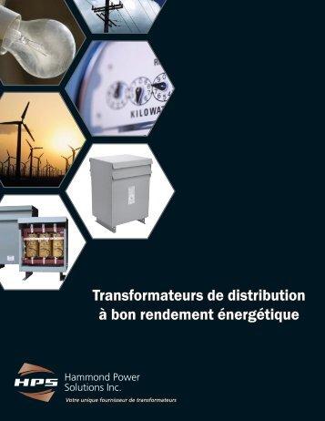 Transformateurs de distribution à bon rendement énergétique
