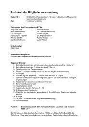 Protokoll der Mitgliederversammlung