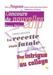 CONCOURS NOUVELLES 2010 - Feignies