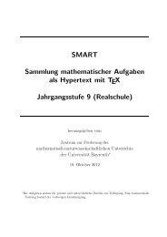 SMART Sammlung mathematischer Aufgaben als Hypertext mit TEX ...