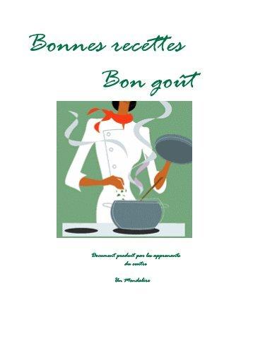 (Bonnes recettes Bon goût _complet_) - Un mondalire