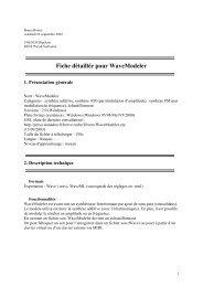 Fiche détaillée pour WaveModeler - Unesco