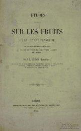 Etudes spéciales sur les fruits de la Guyane Française, de ... - Manioc