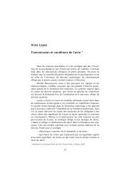 Anne Lopez Transmission et conditions de l'acte * - Ecole de ...