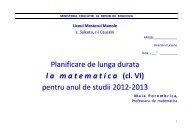 pentru anul de studii 2012-2013