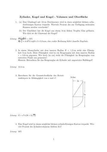 Formelblatter Pyramide Und Kegel Farbig