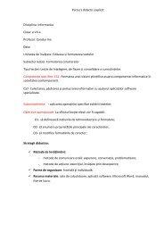 Parcurs didactic explicit Disciplina: Informatica Clasa: a VII-a ...