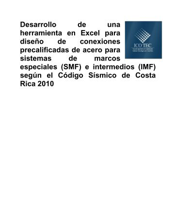 Diseño de herramienta en excel - Tecnológico de Costa Rica