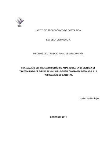 evaluación del proceso biológico anaerobio, en el sistema de ...