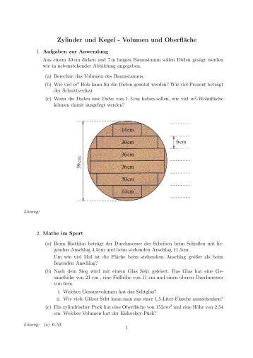 Nett Bereich Der Konus Arbeitsblatt Volumen Und Oberfläche Galerie ...