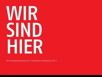 Das Partnerprogramm der Frankfurter Buchmesse 2013