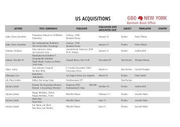 US Acquisitions 220413.xlsx - Frankfurter Buchmesse