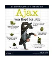 Ajax verwenden - beim O'Reilly Verlag