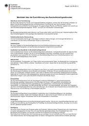 Merkblatt über die Durchführung des Bundesfreiwilligendienstes
